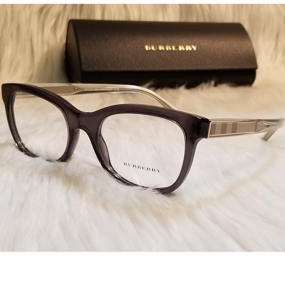 7930252da9fe Burberry Rx Eyeglasses Black Dark-Gray Optical